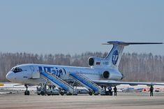 Ту-154 авиакомпании ЮТэйр в аэропорту Пулково