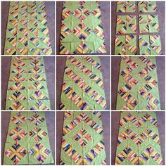 string quilts   options for arranging your HST String Blocks, there are more!