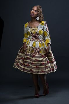 The Remix A Y A Dress made from African Dutch Wax by LiLiCreations