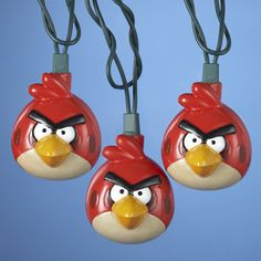 """# BD9122  10/L #ANGRYBIRDS™ LIGHT SET WITH 30"""" GREEN LEAD WIRE AND 12V 0.08A CLEAR INCANDESCENT BULBS - INDOOR/OUTDOOR #angrybirdsornaments"""