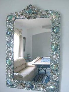 Heavenly Ocean's Abalone, Large Seashell Mirror Decor