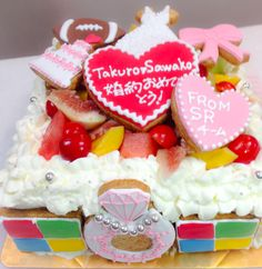 Microsoftなお祝いケーキ Birthday Cake, Desserts, Food, Tailgate Desserts, Deserts, Birthday Cakes, Essen, Postres, Meals