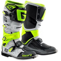 Gaerne SG12 Motocross Boots - Limited Edition Grey Fluo Yellow ce7921cb4