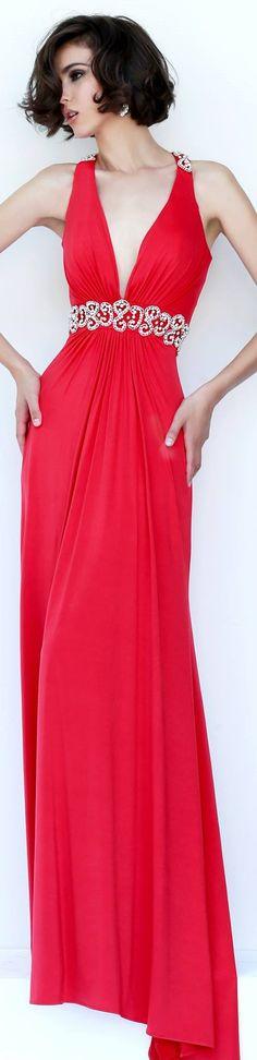 Sherri Hill...BRIGHT RED CORAL