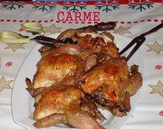 Picantones rellenos para Navidades. Ver la receta http://www.mis-recetas.org/recetas/show/11276-picantones-rellenos-para-navidades