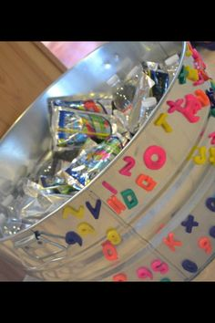 Drink Bin for ABC Birthday Party for my son
