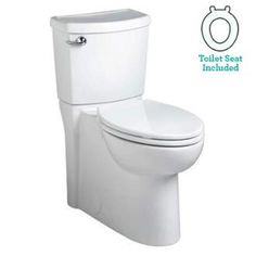 View the American Standard 2989.101 Cadet 3 Elongated Two-Piece Toilet with Concealed Trapway, EverClean Surface, PowerWash Rim and Right Height Bowl - Includes Slow-Close Seat at FaucetDirect.com.