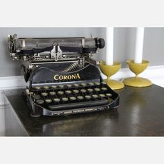 I have an Underwood, but this Corona is pretty neat, too. Perhaps I should display mine with candles.