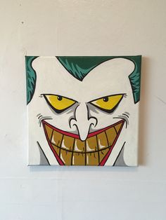 Small Canvas Paintings, Easy Canvas Art, Small Canvas Art, Mini Canvas Art, Hippie Painting, Trippy Painting, Cartoon Painting, Joker Painting, Halloween Painting