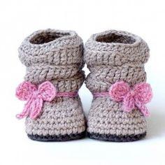 Crochet Pattern - Baby Slouch Boot - Mia Boot