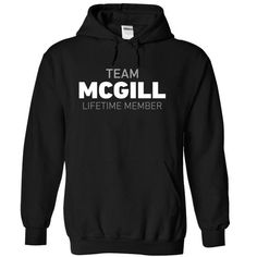Team Mcgill - #bridesmaid gift #cool gift. LOWEST SHIPPING => https://www.sunfrog.com/Names/Team-Mcgill-kdqow-Black-5806606-Hoodie.html?68278