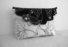 Bridesmaid Clutch-Modern City-Clutch Large-Pouch-Black and White. $19.00, via Etsy.