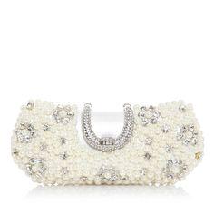 Elegant Satin/Pearl With Rhinestone Clutches (012039138)