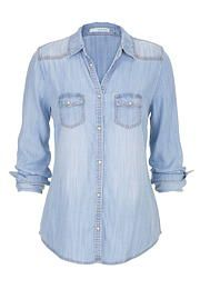 chambray button down