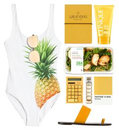 """""""Untitled #1098"""" by andreiasilva07 ❤ liked on Polyvore featuring ONIA, Topshop, Clinique, All Tomorrow's Parties, HUGO and ZeroUV"""
