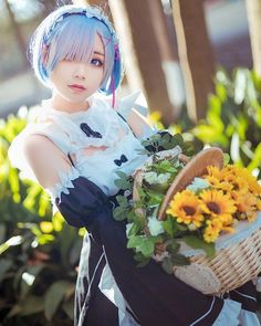 "Gefällt 4,951 Mal, 26 Kommentare - Anime Cosplay Official (@cosplay.world_) auf Instagram: ""- Anime : Re:Zero Kara Hajimeru Isekai Seikatsu Character : Rem .. Cos : @姜生花_ __…"""