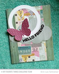 Wavy Greetings, Flutter of Butterflies - Solid, Jumbo Cloud STAX Die-namics, Stitched Circle Frames Die-namics - Erin Lee Schreiner  #mftstamps