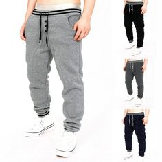 Autumn sweatpants Mens Track Pants Casual Baggy Tracksuit Trousers drawstring single breasted Jogger Harem Pants Men Plus size