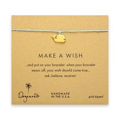 make a wish whale bracelet on turquoise, gold dipped - Dogeared #dogeared #sharethehappy