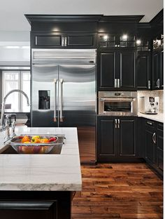 Gray Kitchen Cabinets With Black Appliances 15 beautiful black kitchens /// the hot new kitchen color | black