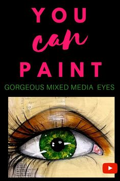 Learn how to paint GORGEOUS EYES for the whimsical girls that fill your mixed media art journals, altered books, & canvases! In this FREE step by step 13 minute tutorial, Karen Campbell spills all her secrets about how to draw eyes and shade them over collage w/ her favorite art supplies from acrylic paints to watercolor, markers & more! Excellent inspiration for artists of all levels, easy enough for beginners!   #karencampbellartist #mixedmediaart #artjournal #eyeart Mixed Media Faces, Mixed Media Art, Mix Media, Learn Art, Learn To Paint, Karen Campbell, Art Tutorials, Drawing Tutorials, Drawing Ideas
