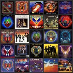 JOURNEY (with Steve Perry only) -- My all time favorite, always & forever. The only true Journey band is with Steve Perry. He put them on the map & in true fan's hearts forever. The new lead singer is good but not as good as Steve Perry. Journey Albums, Journey Band, Journey Journey, Journey Music, Bon Jovi, Rock N Roll, Arena Rock, Classic Rock Albums, Mundo Musical