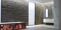 Vardagsrum med skifferfondvägg Multicolor Pronto Kakel® i Malmö
