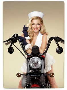 SOLDIER PIN-UP MARISA MILLER IS A CLOSET HARLEY RIDER