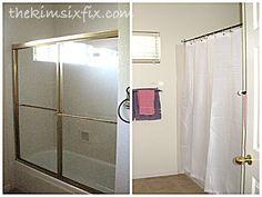 Decor, Room, Bathroom Makeover, Makeover, Kids Bathroom Makeover, Home Decor, Shower Doors, Bathroom, Room Divider