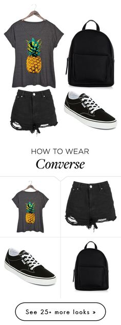 """Pineapple converse"" by bridie-oloughlin on Polyvore featuring Vans, New Look and plus size clothing"
