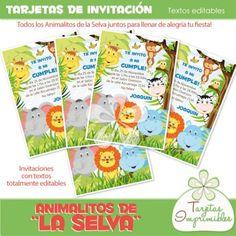 Resultado de imagen para adornos de cumpleaños de animales Baby Shower, Safari, Map, Bottle, Blog, Beautiful, Texts, Decorations, Animal Birthday