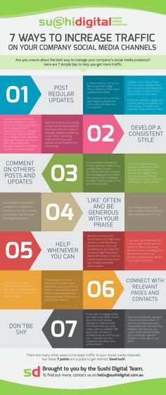 7 Tip to Increase Traffic on Your Company #SocialMedia Channels - #infographic