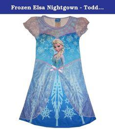 4T Disney Store Frozen Princess Elsa Nightgown Girls Size XS 4