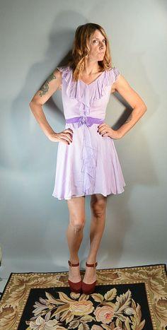 60s Chiffon Dress// Dreamy 60s Girly Dress by CoupDetatVintage