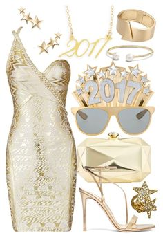 """""""Happy New Year"""" by faleur102 ❤ liked on Polyvore featuring INC International Concepts, Brevity., Kenneth Jay Lane, Gianvito Rossi, Blu Bijoux, John Lewis, David Yurman, NewYears, happy and newyear"""