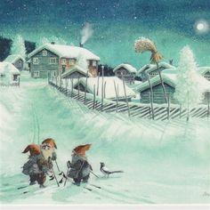 Nettbutikk Midthunsamlerne - www.midthunsamlerne.com Elves, Gnomes, Art For Sale, Troll, Childrens Books, Illustrators, Images, Christmas Decorations, Fairy