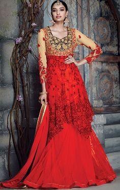 Bewitching Deep Scarlet Designer Suit