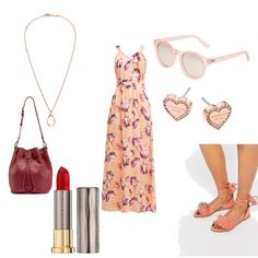 OneOutfitPerDay 2016-08-20 - #ootd #outfit #fashion #oneoutfitperday #fashionblogger #fashionbloggerde #frauenoutfit #herbstoutfit - Frauen Outfit Outfit des Tages Sommer Outfit Bag Calvin Klein Comma Halskette Kleid Le Specs Liebeskind Liebeskind Berlin Lippenstift Maxikleid Michael Kors Ohrringe rose Sonnenbrille Tasche Urban Decay