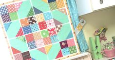 I've had several requests to show my Scrappy Cross Roads Block Instagram Tutorial (Beelori1) here on my blog as well… so h... Charm Pack Quilt Patterns, Charm Pack Quilts, Jelly Roll Quilt Patterns, Patchwork Quilt Patterns, Quilting Patterns, Big Block Quilts, Star Quilt Blocks, Strip Quilts, Small Quilts
