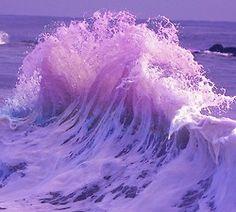 Фотография очень красивая хипстер старинных инди вода фиолетовый природа удивительно фантазии ретро волны моря океана Beautiul красивые фиолетовые волны