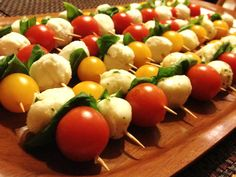 Elegant appetizers can be so much fun but they don't surface very often. They just bring such a different feel to a party than chips and sa. Elegant Appetizers, Appetizers For Party, Appetizer Recipes, New Recipes, Holiday Recipes, Recipies, Caprese Skewers, Kabobs, Healthy Eating Recipes
