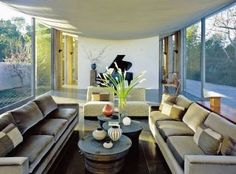 Living Room and Wallace E. Cunningham in La Jolla, California
