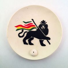 """Polymer Clay """"Irie Lion"""" Incense Holder"""