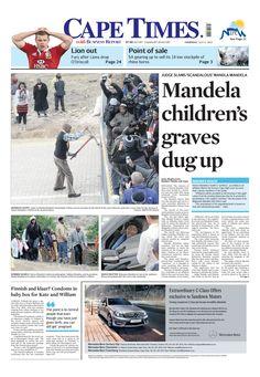News making headlines: Mandela children's graves dug up