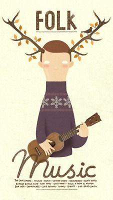 FOLK MUSIC by Bakea illustrations