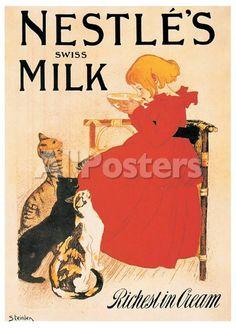 Nestle's Milk Stampa di Théophile Alexandre Steinlen su AllPosters.it