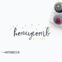 Gold Confetti Logo Design. Premade Signature Logo. Cute Business Marketing. Custom Boutique Branding. Etsy Shop Graphics. EL396.