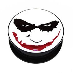 Batman heath #ledger the joker face dark knight #acrylic ear plug flesh #tunnel,  View more on the LINK: http://www.zeppy.io/product/gb/2/190772890856/