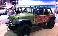 Kinda like a woody look on a wrangler... Dad and brother strongly disagree so I'll trust them and won't do it. :(