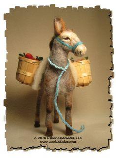 needle felted donkeys | Needle-felted Donkey